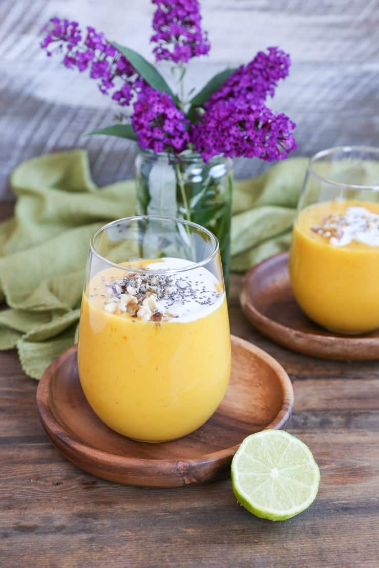 Golden Beet, Mango, and Turmeric Smoothie - a healing superfood smoothie recipe!