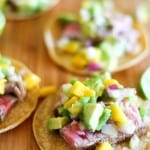 Seared Ahi Tacos with Mango Avocado Salsa