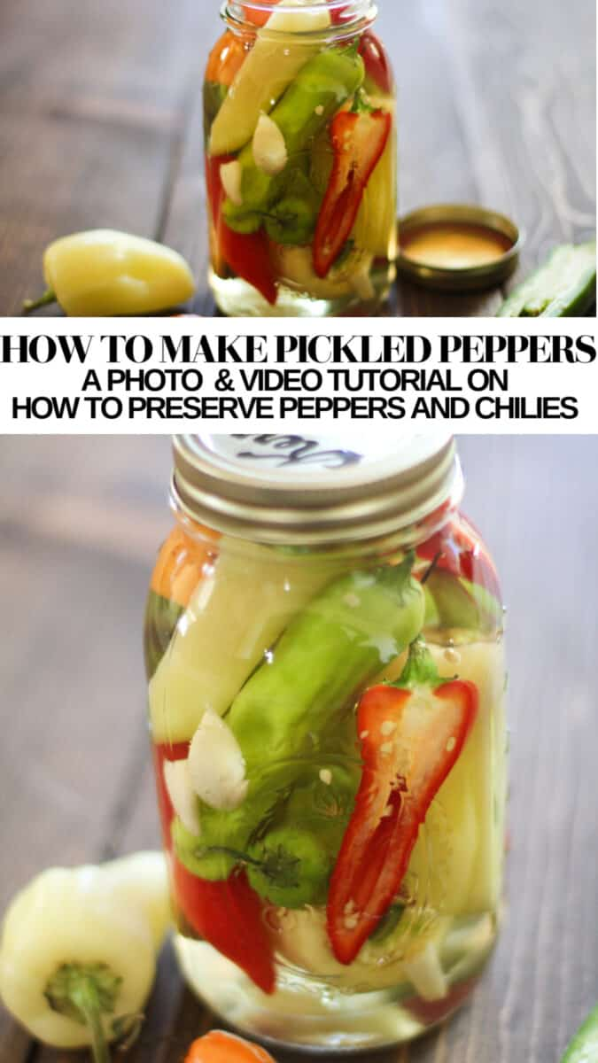 How to Make Pickled Peppers - a photo and video tutorial on how to preserve peppers and chilies - no canning experience necessary!