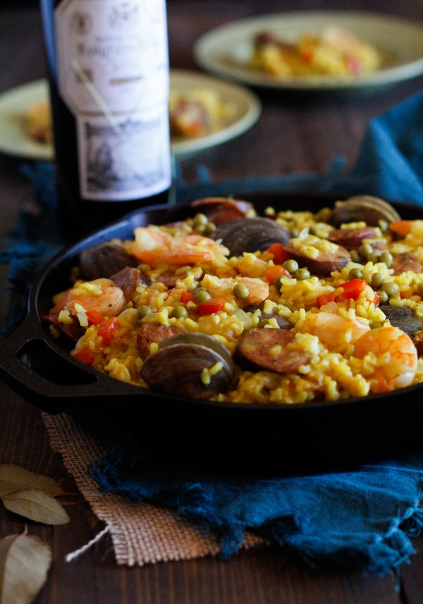 Seafood Paella plus a wine and tapas pairing #matchmadeinheaven @riojawine