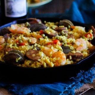 Seafood Paella plus a wine and tapas pairing #matchmadeinheaven @riojawine
