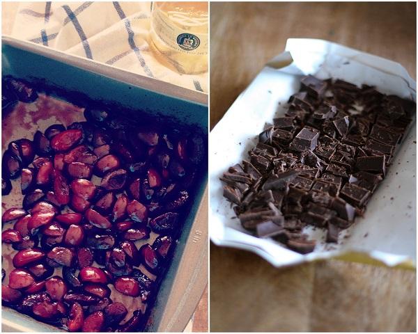 Boozy Roasted Cherry Chocolate Chunk Ice Cream (vegan and naturally sweetened)