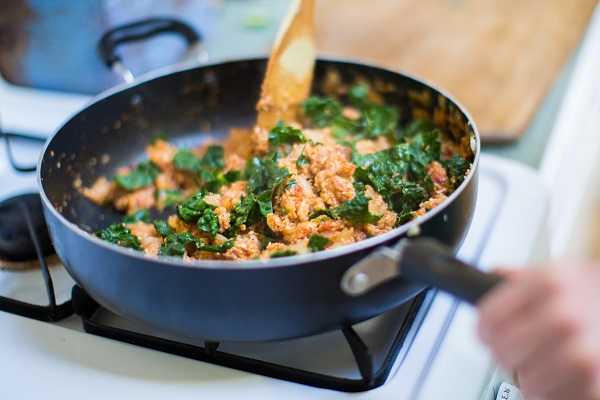Spanish Cauliflower Rice with Kale - a recipe from Julia Mueller's cookbook, Let Them Eat Kale!
