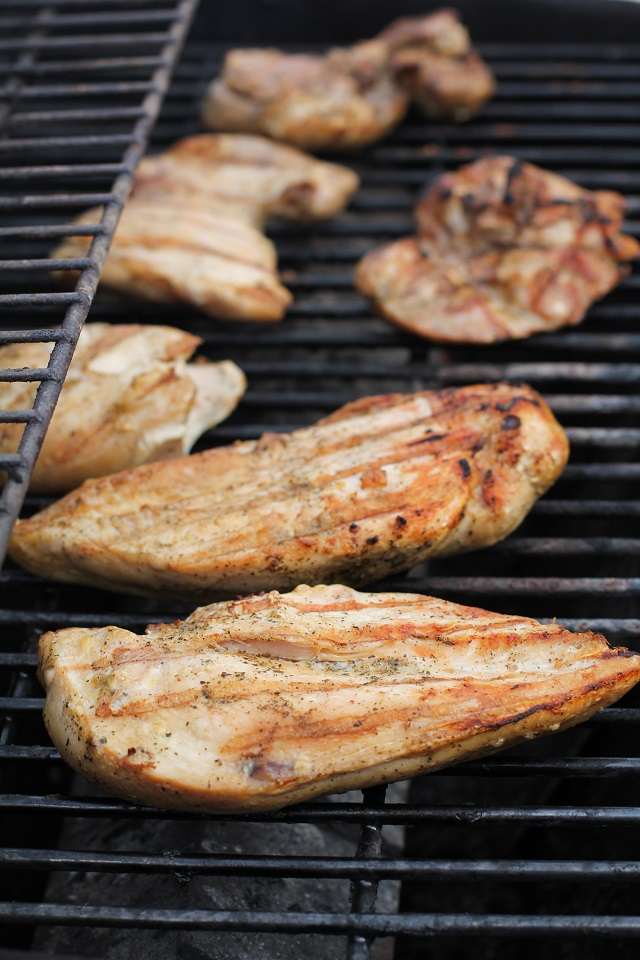 Tequila and liquid aminos make a simple and amazing marinade for this grilled chicken recipe! | theroastedroot.net #healthy #dinner #bbq #barbecue #grilled