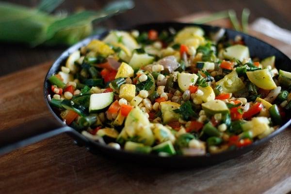 Charred Summer Vegetables @LodgeCastIron