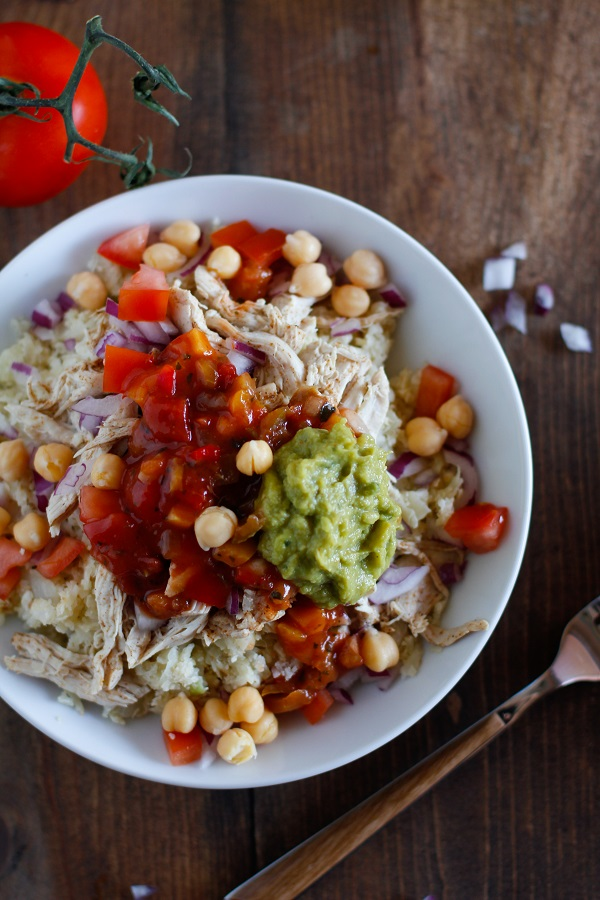 Shredded Chicken Burrito Bowls