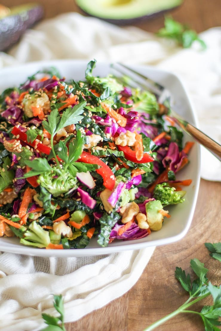 The Ultimate Detox Salad with Lemon-Parsley Dressing - a healthy vegan dish perfect for a good cleanse