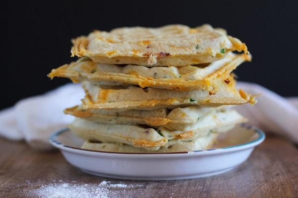 Gluten Free Jalapeño Cheddar Bacon Waffles