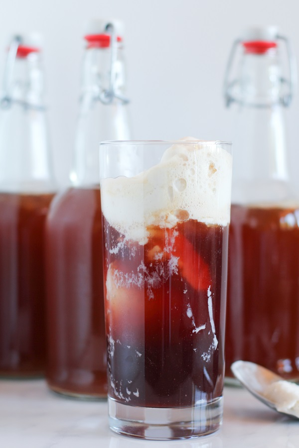 Pomegranate Kombucha Floats