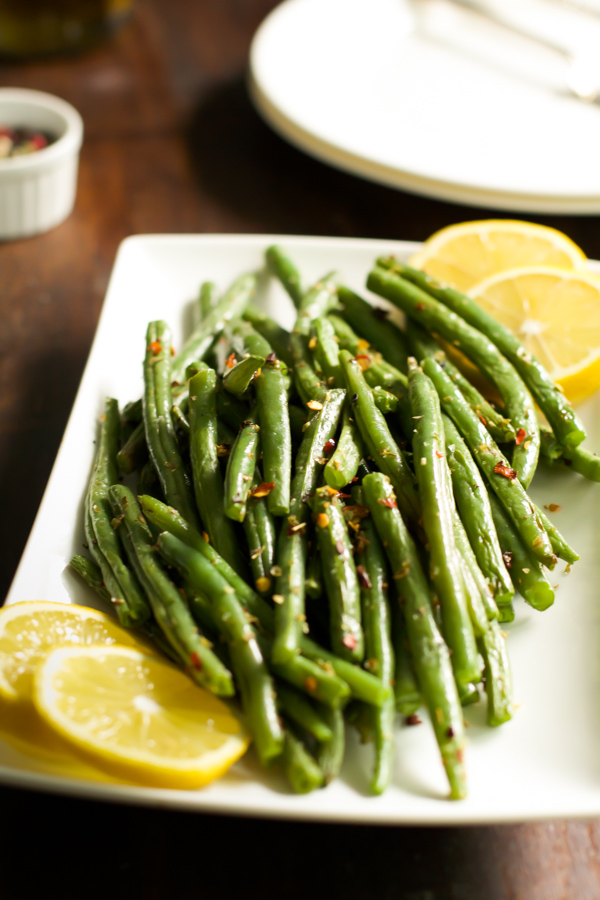 How to Make Crispy Roasted Green Beans #glutenfree #Thanksgiving