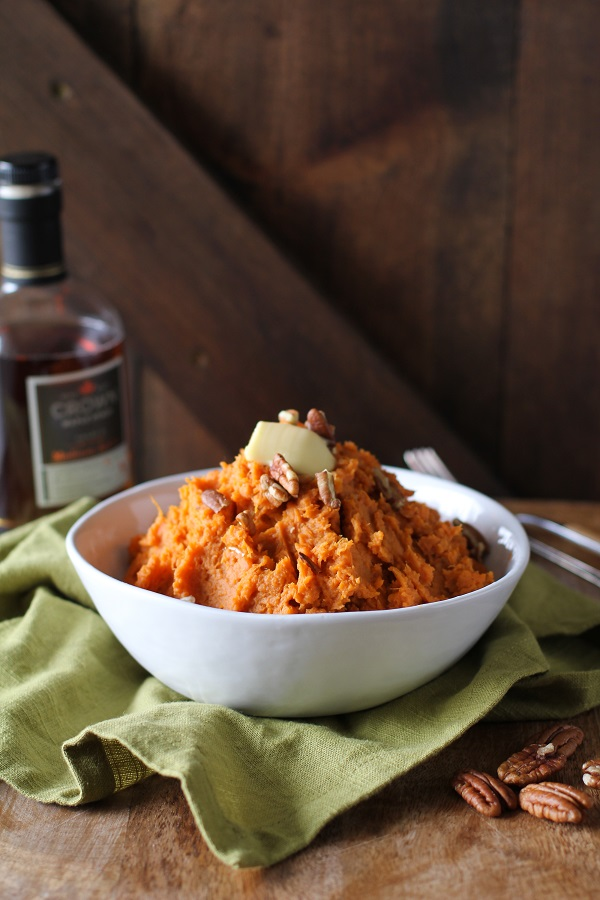 Maple Bourbon Mashed Sweet Potatoes | The Roasted Root