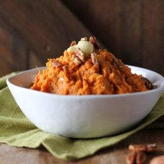 Maple Bourbon Mashed Sweet Potatoes