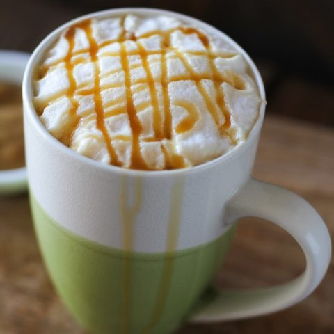 Naturally Sweetened Caramel Macchiato | cane sugar-free and vegan @icoffeeusa