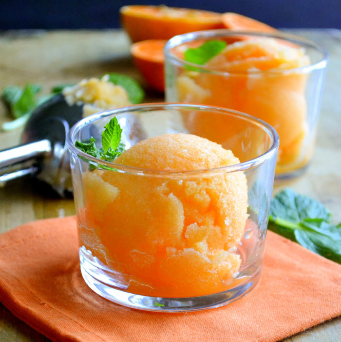 Tangerine Sorbet from The View from Great Island (refined sugar-free, paleo)