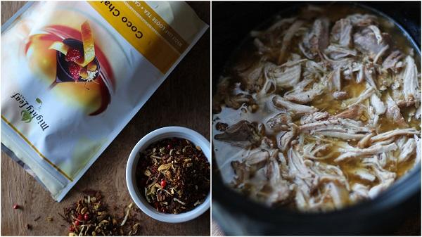 Crock Pot Shredded Pork - warmly spiced with apple cider and chai tea @mightyleaf #paleo