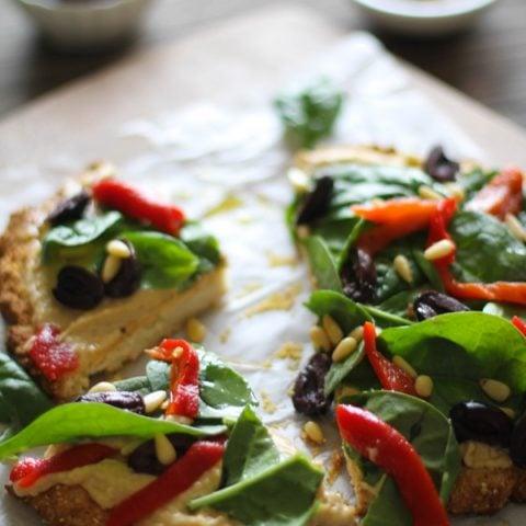 Greek Hummus Pizza #glutenfree @sabradippingco