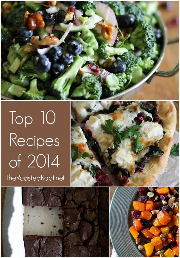 Top 10 Recipes from 2014 on TheRoastedRoot.net