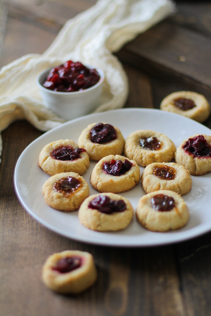 Cardamom Almond Flour Paleo Thumbprint Cookies | TheRoastedRoot.net #healthy #dessert #recipe #glutenfree #paleo #vegan