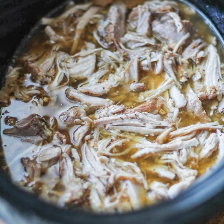 Cider-Chai Crock Pot Pulled Pork - an easy recipe that only requires a few ingredients!