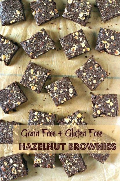grain free gluten free hazelnut brownies from Healthy Maven