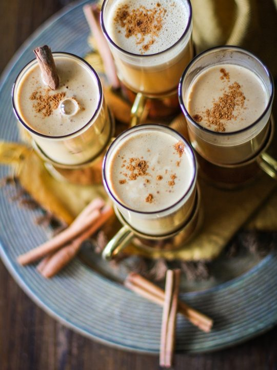 Hot Buttered Rum with Cider - paleo, unsweetened, healthier cocktail recipe