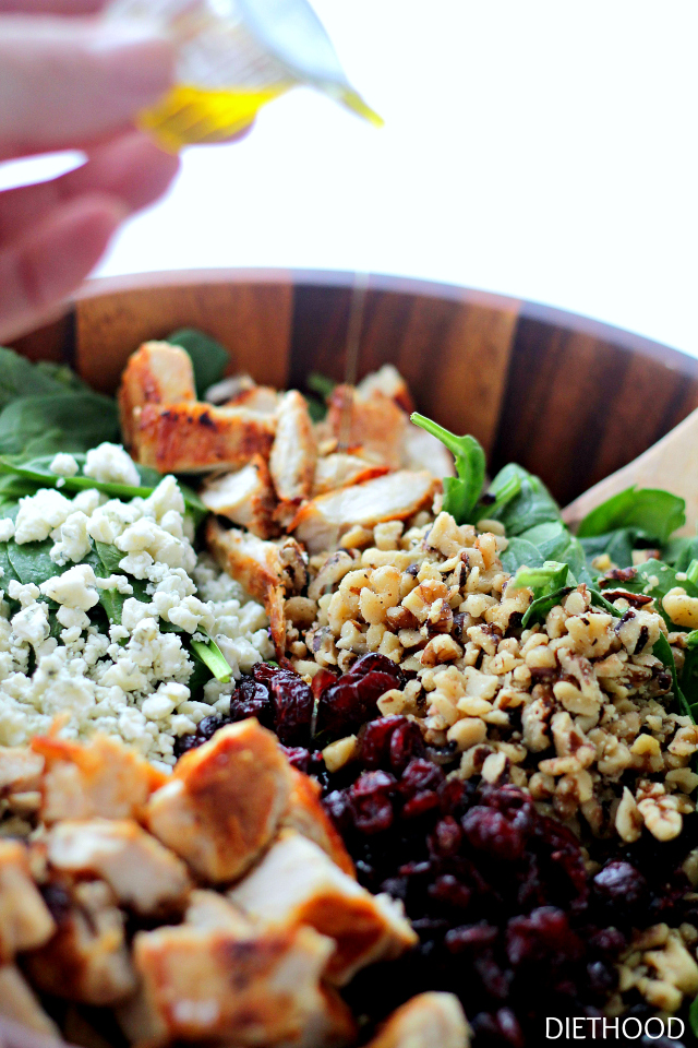 Cherry Walnut Chicken Salad from Diethood