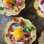Acorn Squash Egg-in-the-Hole #breakfast #vegetarian #healthy #recipe @roastedroot