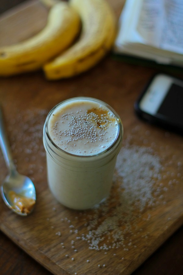 Almond Butter Chia Seed Smoothie
