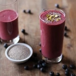 Beet Berry Apple Smoothie - full of vitamins, minerals, and antioxidants. @roastedroot