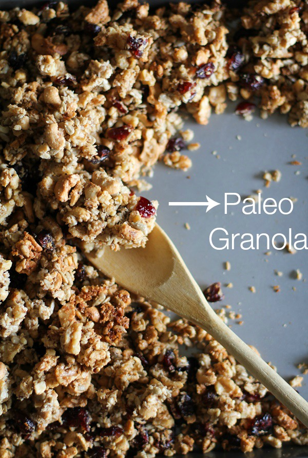 Coconut Walnut Sunflower Seed Paleo Granola | theroastedroot.net #glutenfree #sugarfree #healthy #breakfast #recipe @roastedroot