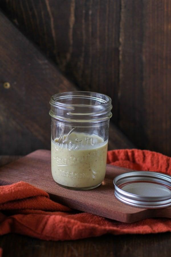 Fig Kombucha Vinaigrette - make salad dressing using kombucha!