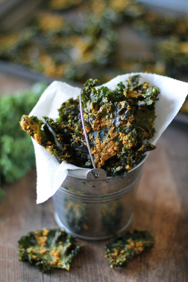 Nacho Cheese Kale ChipsThe Roasted Root
