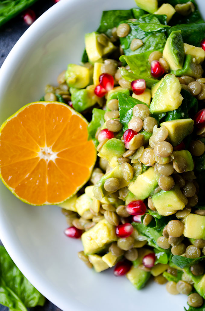 Avocado Lentil Salad from Give Recipe