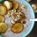 Bananas Foster Chia Seed Pudding - a healthy dessert made cane sugar free! #paleo #glutenfree