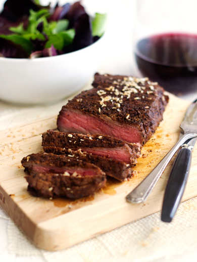 Chocolate Coffee Rubbed Steak from Food Faith Fitness