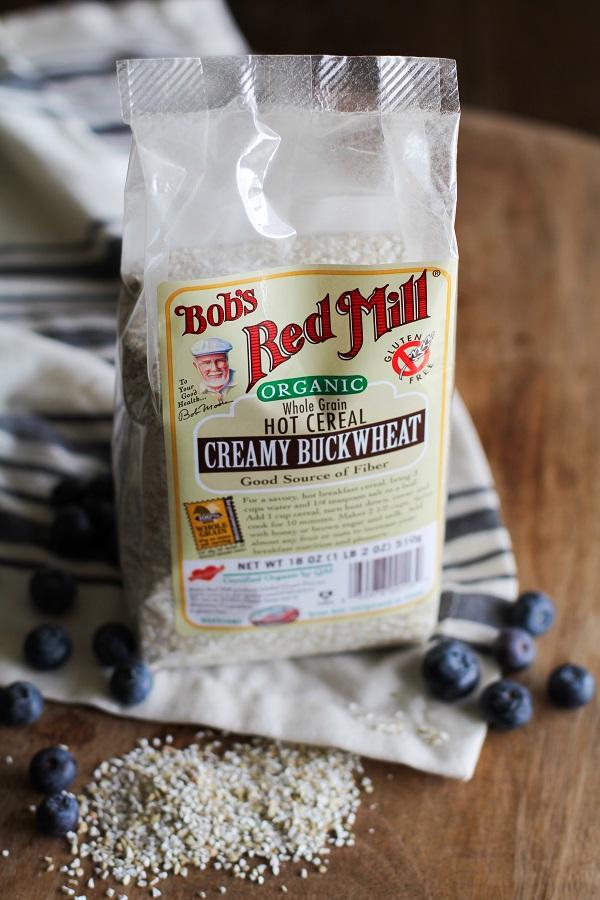 Superfood Blueberry Buckwheat Porridge with walnuts, chia seeds, almond butter, and coconut milk   theroastedroot.net #paleo #glutenfree #sugarfree #breakfast #recipe @bobsredmill @roastedroot