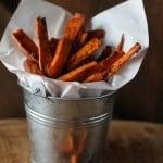 Cinnamon and Coconut Sugar Sweet Potato Fries   theroastedroot.net