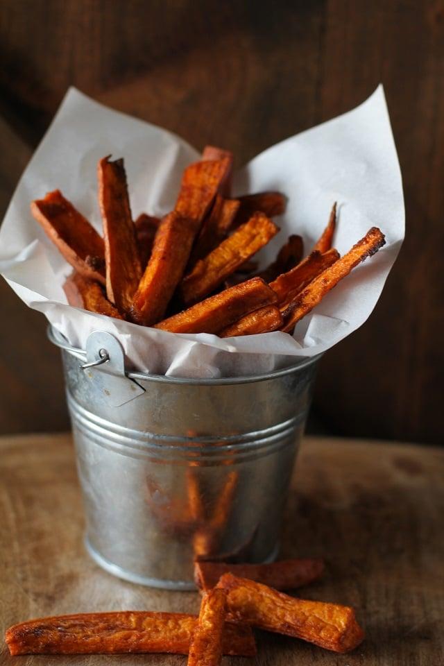 Cinnamon and Coconut Sugar Sweet Potato Fries | theroastedroot.net