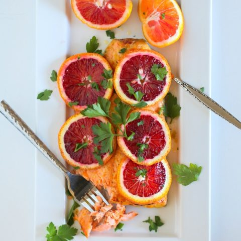 Ginger Orange Glazed Salmon