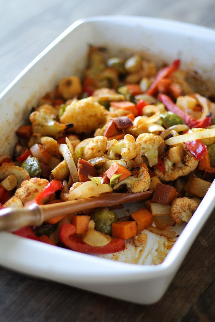 Balsamic Roasted Vegetables | TheRoastedRoot.net #healthy #sidedish #vegetarian #vegan #paleo