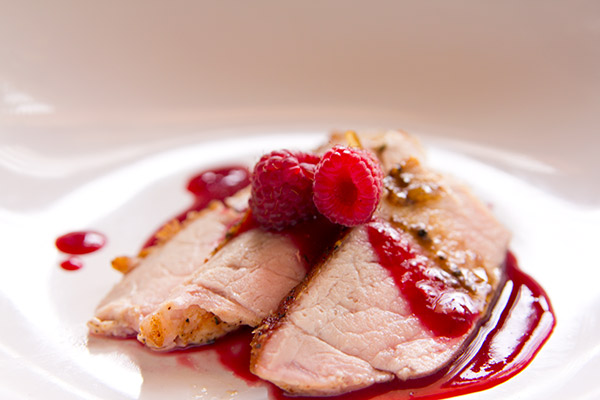 Seared Pork with Raspberry Gastrique