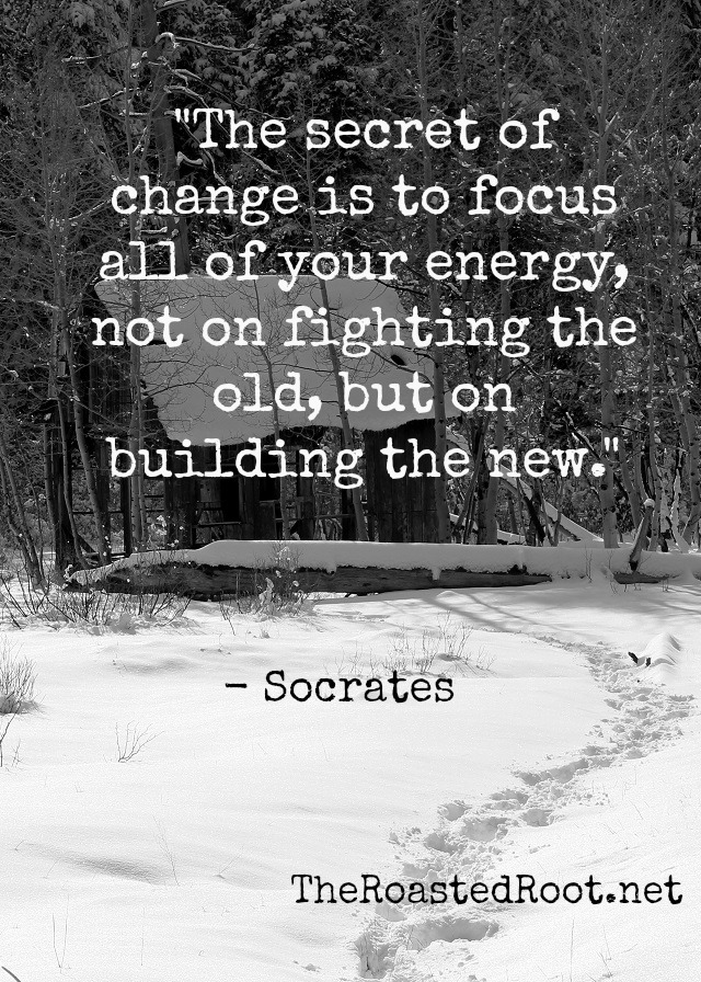 """The Secret of change is to focus all of your energy, not on fighting the old, but on building the new."" - Socrates 