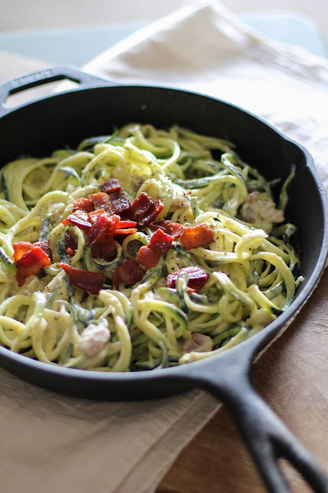 Dairy-Free Zucchini Carbonara - a healthful lightened up carbonara ...