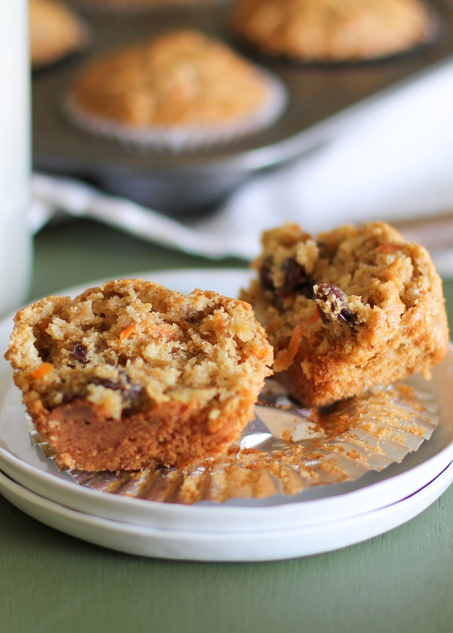 Grain-free and refined sugar-free Morning Glory Muffins | Made with almond flour and pure maple syrup theroastedroot.net #paleo #healthy #brunch #recipe @roastedroot