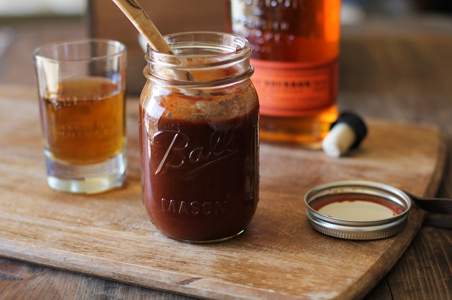 Maple Bourbon Barbecue Sauce - a refined-sugar free, easy recipe that can be made in just 30 minutes!