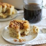 Paleo Coffee Cake - grain-free and refined sugar-free made with coconut flour, arrowroot flour, and pure maple syrup | theroastedroot.net #glutenfree #healthy #breakfast #brunch #recipe