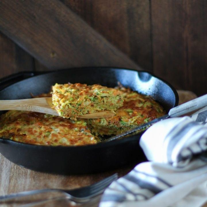 Sweet Potato, Broccoli, and Parsnip Frittata - a supercharged healthful vegetarian breakfast | TheRoastedRoot.net #vegetarian #brunch