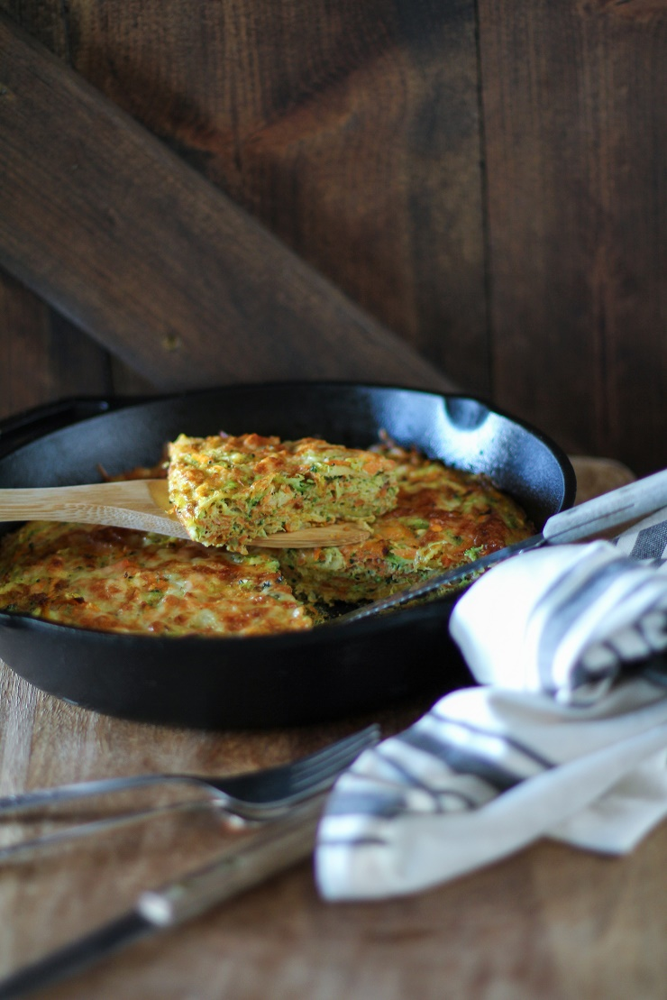 Sweet Potato, Broccoli, and Parsnip Frittata - a supercharged healthful vegetarian breakfast | TheRoastedRoot.net #vegetarian #brunch