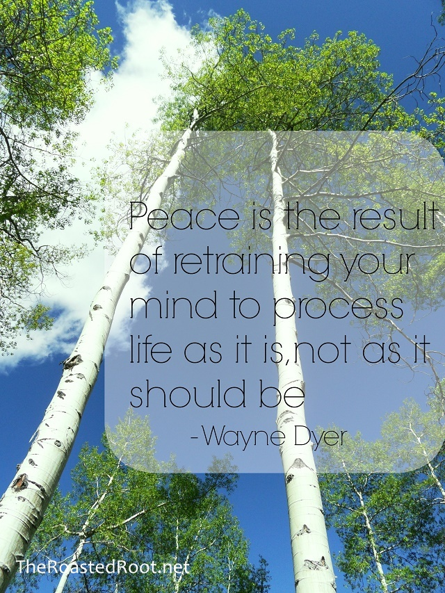"""Peace is the result of retraining your mind to process life as it is, not as it should be."" - Dr. Wayne Dyer #quote #wordsofwisdom"