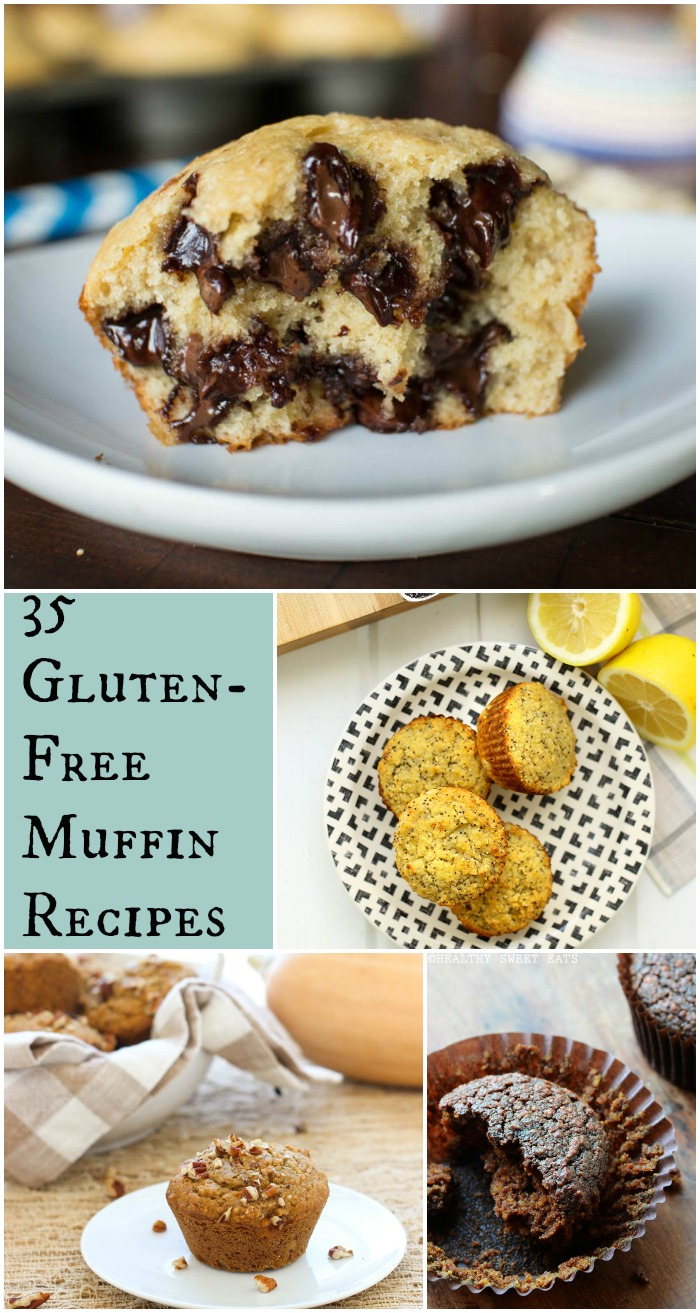 35 Gluten-Free Muffin Recipes, including options for grain-free, sugar-free, paleo, and/or vegan recipes.